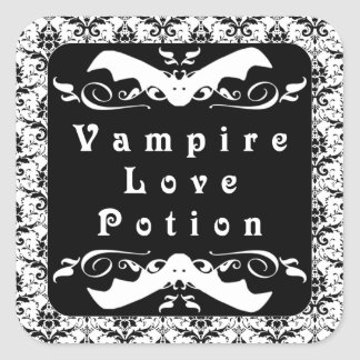 Vampire Love Potion (Black) Halloween Stickers