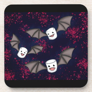 Vampire Marshmallows Halloween Coasters