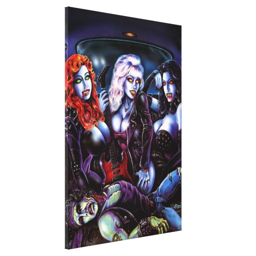 Vampire Metal Girls Gallery Wrapped Canvas