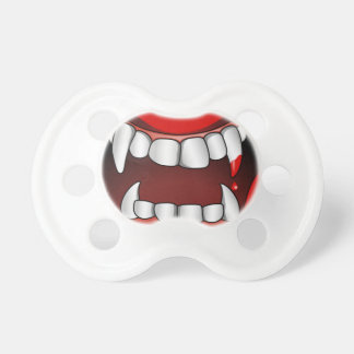 Vampire Mouth With Drop of Blood Pacifiers
