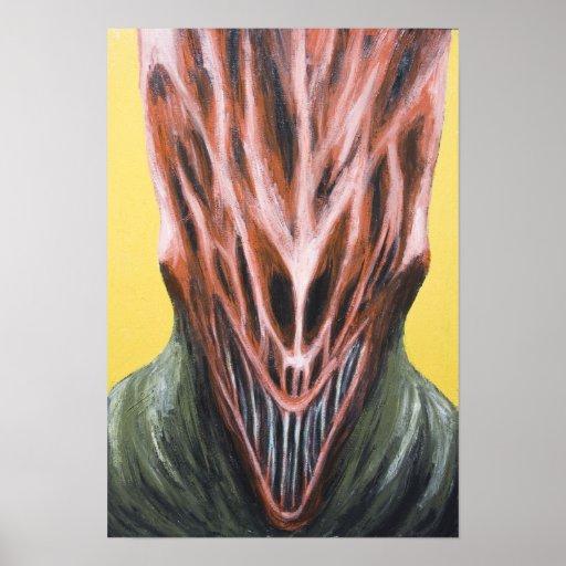 Vampire Next Door (surreal monster portrait) Posters