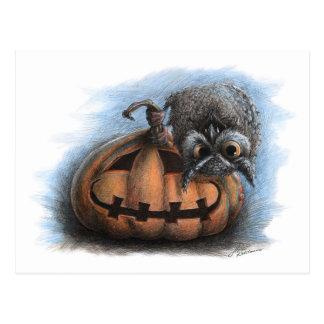 Vampire Owl - Halloween postcard