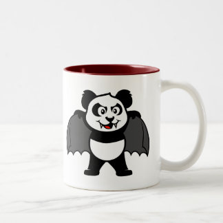 Vampire Panda Two-Tone Coffee Mug