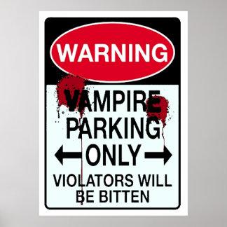 Vampire Parking Poster
