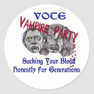 Vampire Party Sticker