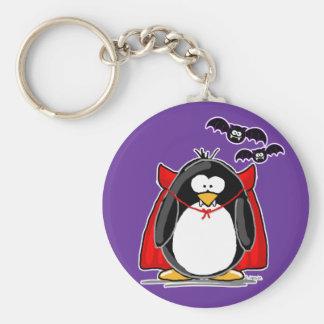 Vampire Penguin Key Ring