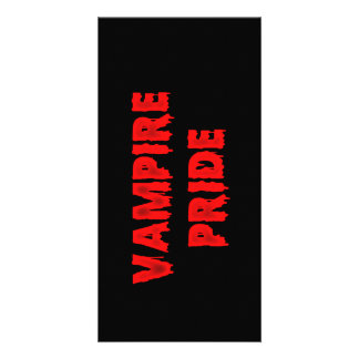 Vampire pride photo greeting card