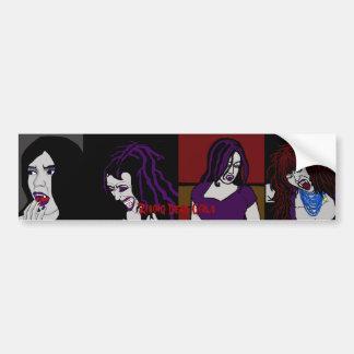 """Vampire """"Rising Dead"""" Car Bumper Sticker"""