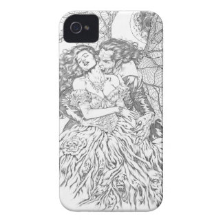 Vampire s Kiss by Al Rio - Vampire and Woman Art iPhone 4 Case-Mate Cases