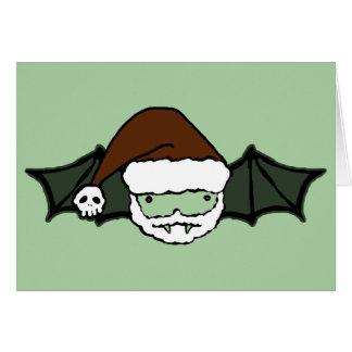 Vampire Santa Bat Card