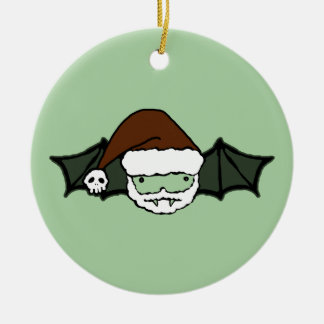 Vampire Santa Bat Christmas Ornament
