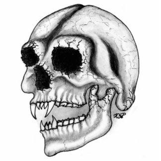 Vampire skull black and white Design Cut Out