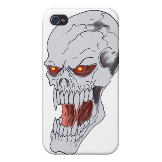 Vampire Skull Drawing iPhone 4/4S Cover