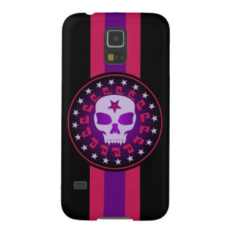 Vampire Skull in a Circle of Stars Galaxy S5 Case