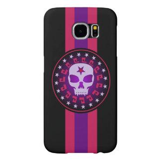 Vampire Skull in a Circle of Stars Samsung Galaxy S6 Cases