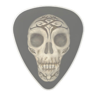 Vampire Skull On Black Background Polycarbonate Guitar Pick