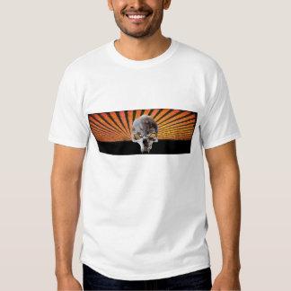 Vampire Skull Orange Rising Sun - Customized Shirts