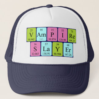 Vampire Slayer periodic table phrase hat