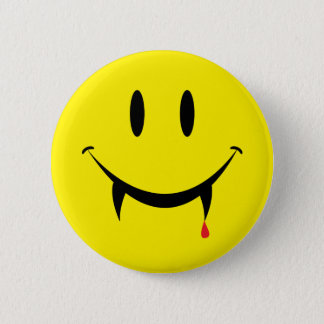 Vampire Smiley Face 6 Cm Round Badge