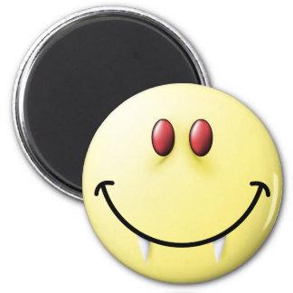 Vampire Smiley Face 6 Cm Round Magnet