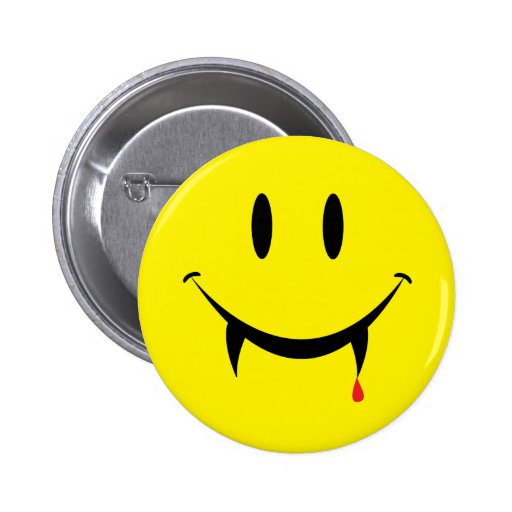 Vampire Smiley Face Pins
