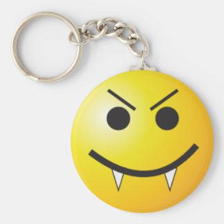 Vampire smiley key ring