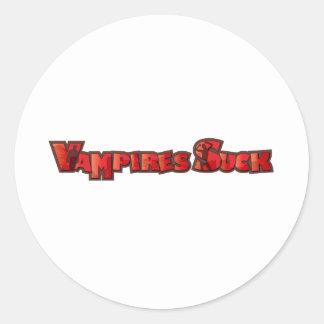 Vampire Suck Round Sticker
