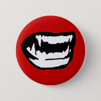 Vampire Teeth 6 Cm Round Badge