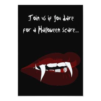 Vampire teeth Halloween Party Invitations