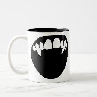 Vampire Teeth Two-Tone Coffee Mug