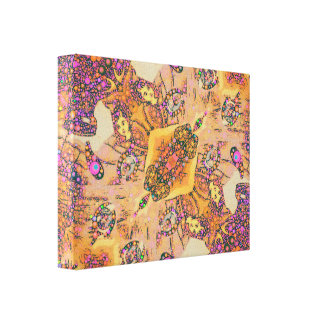 Vampire Toon Abstract Gallery Wrap Canvas