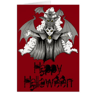 Vampire Transformation Greeting Card