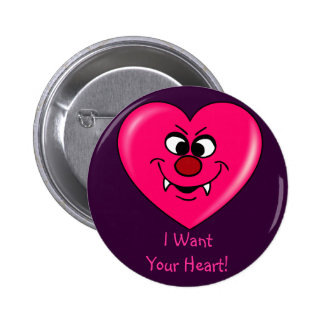 Vampire Valentine Give your heart to me Pin