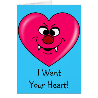 Vampire Valentine: Give your heart to me Greeting Card