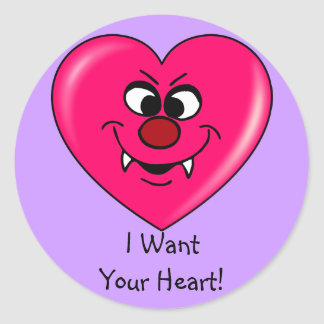 Vampire Valentine Give your heart to me Stickers