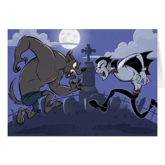 Vampire Vs Werewolf Card
