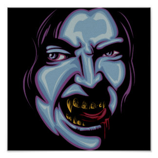 Vampire with grillz poster