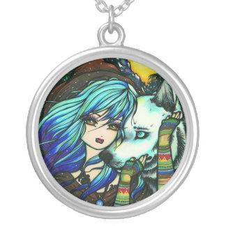 Vampire Wolf Fantasy Fairy Art Hannah Lynn Custom Necklace
