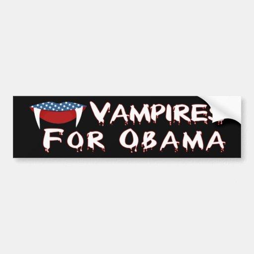 Vampires For Obama Fun Halloween Bumper Stickers