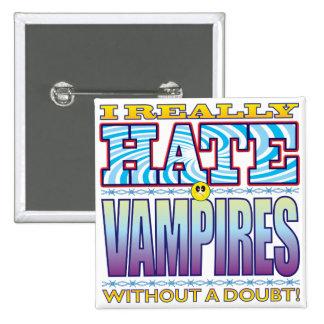 Vampires Hate Face 15 Cm Square Badge
