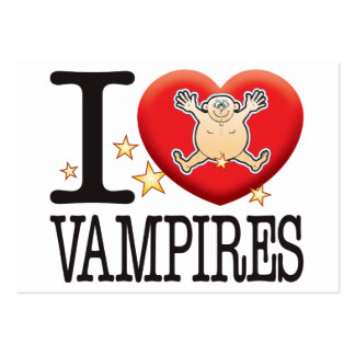 Vampires Love Man Pack Of Chubby Business Cards