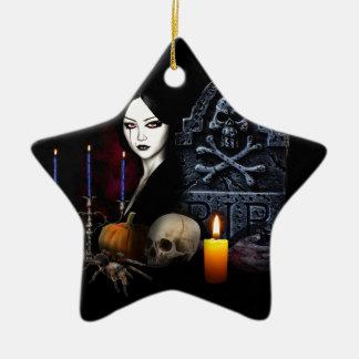 Vampires night christmas ornament