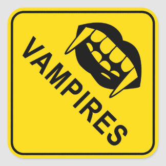 Vampires Square Stickers