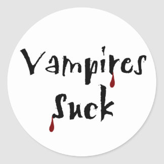 Vampires Suck Stickers
