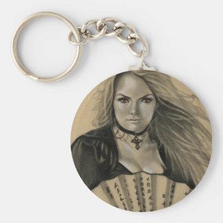 Vampiress Dia de los Muertos Keychain
