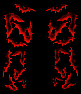 33828acd481d Vamplife Ghostly Bats - Blood Red Flip Flops