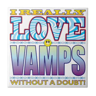 Vamps Love Face Small Square Tile