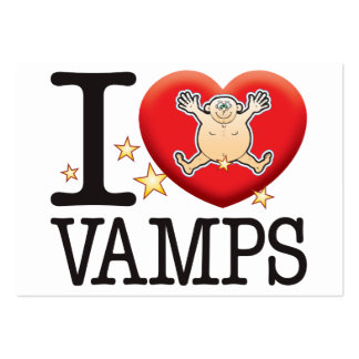 Vamps Love Man Pack Of Chubby Business Cards