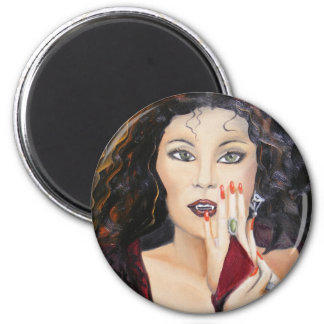 Vampyre 6 Cm Round Magnet