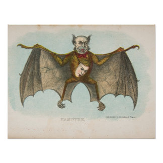 Vampyre, The Comic Natural History, 1851 Poster